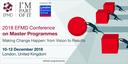 2018 EFMD Conference on Master Programmes