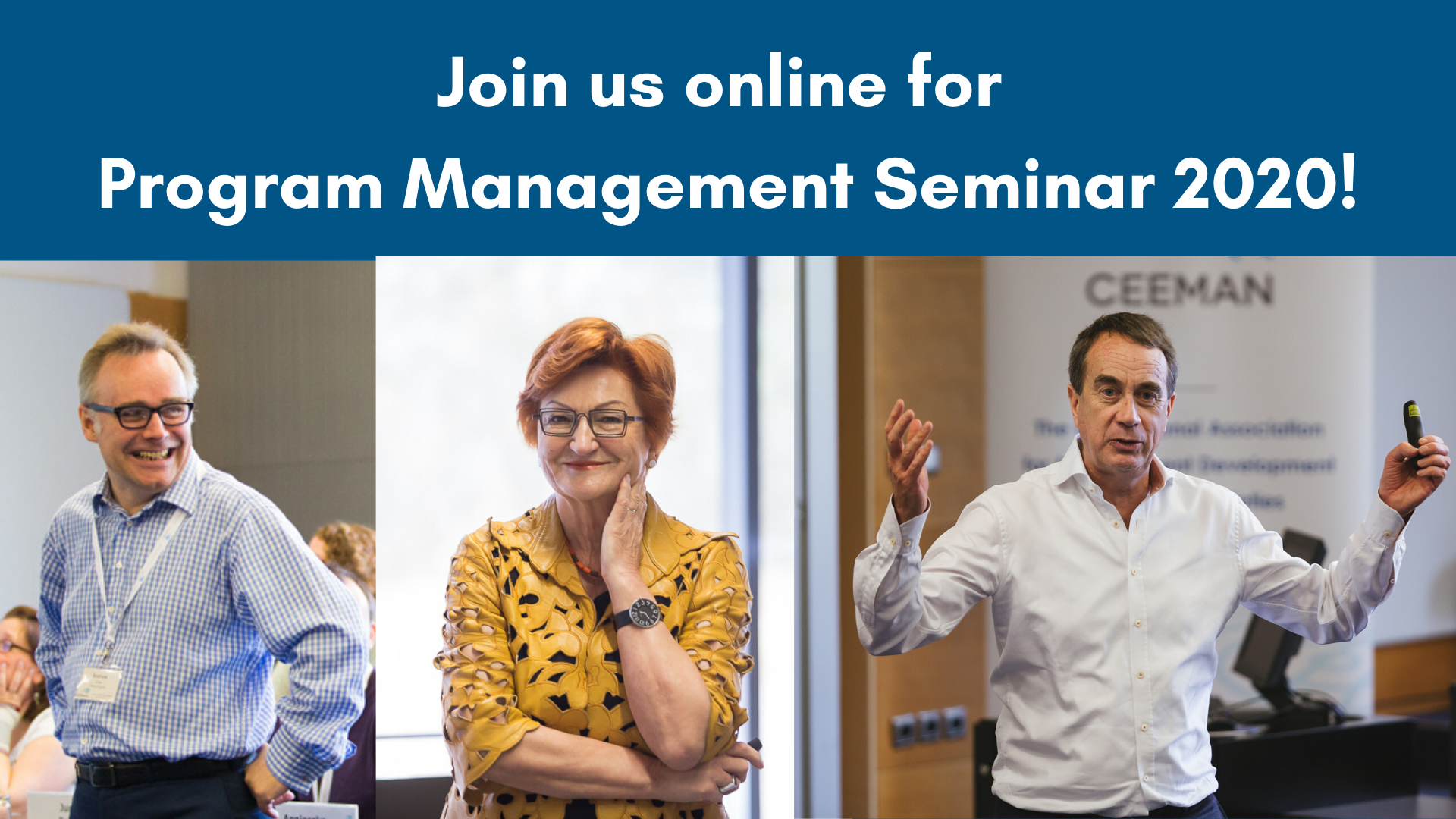 Join the online Program Management Seminar 2020