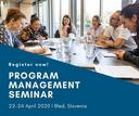 Last call for participation – Program Management Seminar 2020