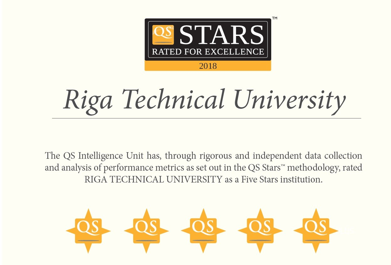 RTU HAS BEEN RANKED AS A FIVE-STAR UNIVERSITY IN QS STARS RATING