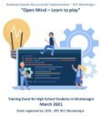 """UDG """"Open Mind – Learn to play"""" Training Event for High School Students in Montenegro"""