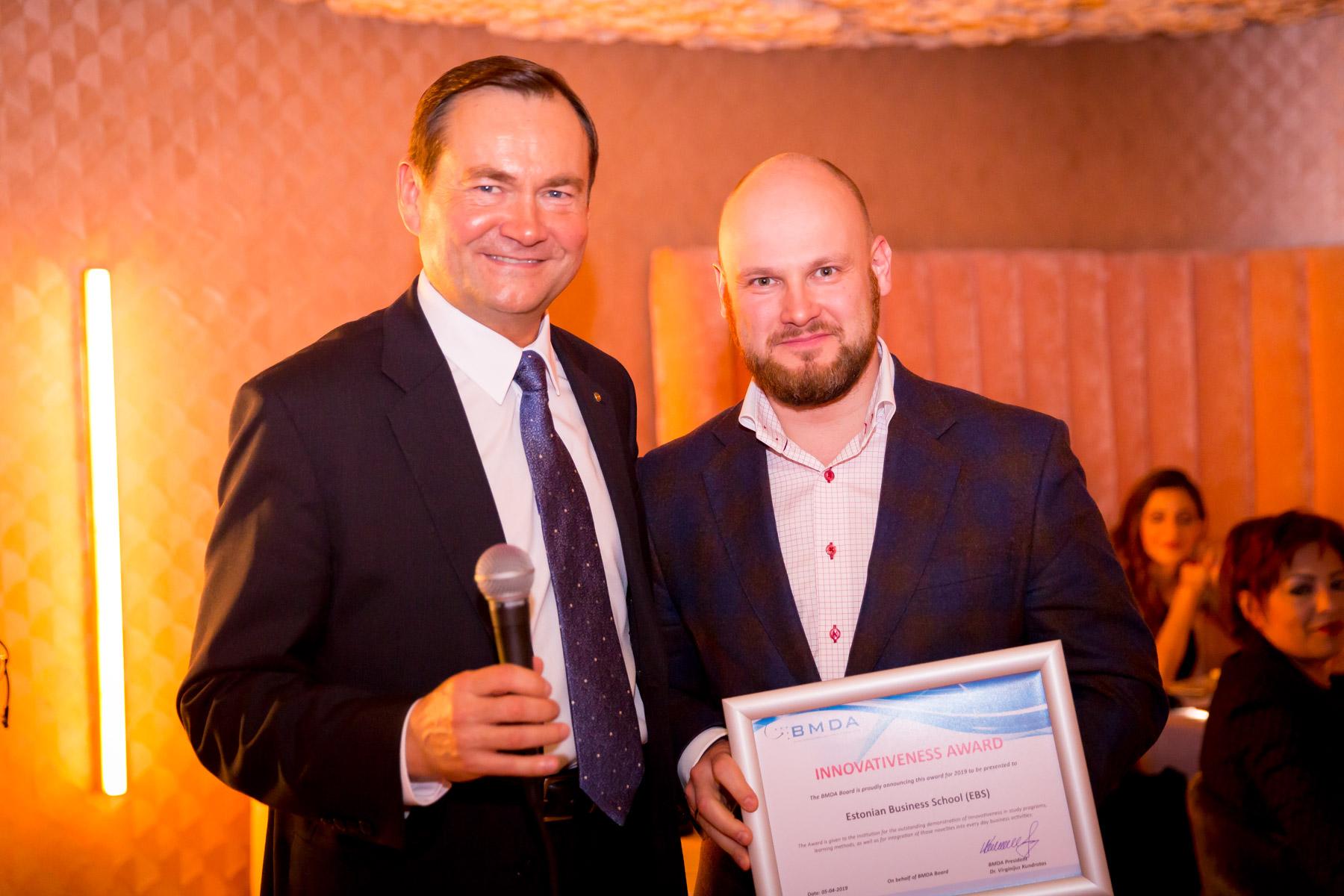 EBS receives BMDA award for Innovativeness