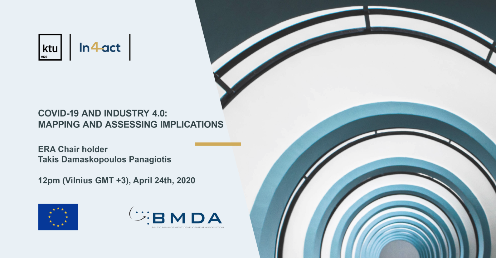 "LINK to WEBINAR ""COVID-19 and Industry 4.0: Mapping and Assessing Implications"""