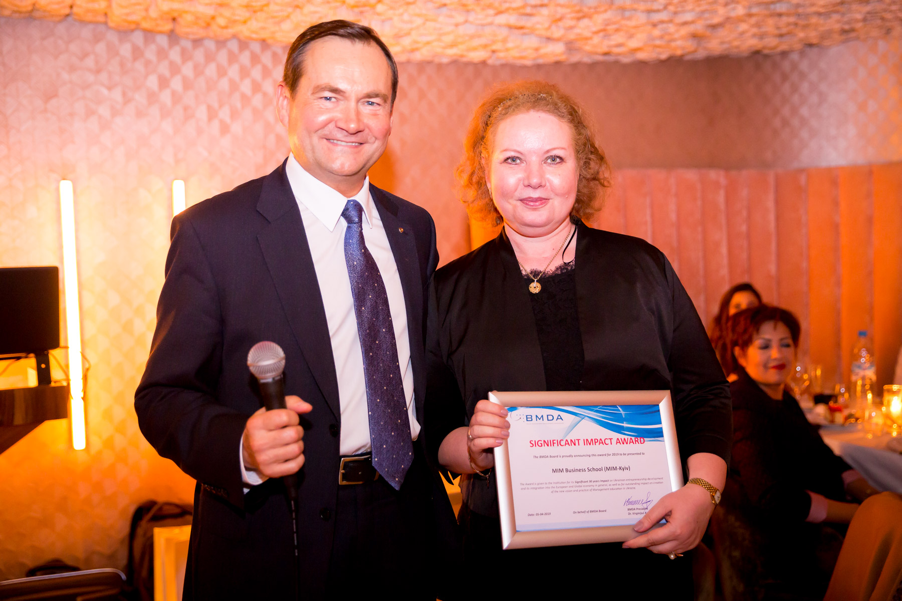 MIM receives BMDA award for Significant impact